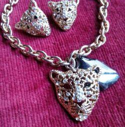 Комплект, браслет и серьги.Эмираты.