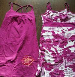 Cotton dresses 2 pcs