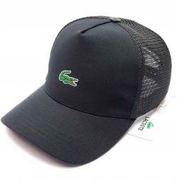 Καπέλο μπέιζμπολ καλοκαίρι πλέγμα Lacoste (μαύρο)