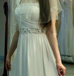 Свадебное платье ампир в греческом стиле