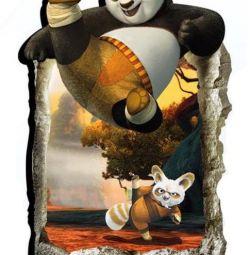 Кунг-фу Панда 3D наклейка 90 на 60 см