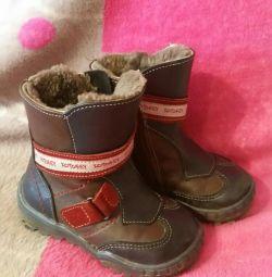 Χειμερινές δερμάτινες μπότες Cotofey 22