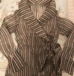 Полупрозрачная блузка Италия