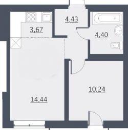 Daire, 1 oda, 37 m²