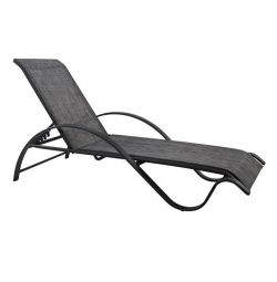 ALUMINUM SUNLOUNGERS PROFESSIONAL GRAY WITH TEXTLIN