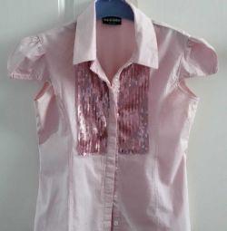 Блузка с паетками рост 152