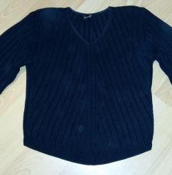 black female jumper p 44 with v-neckline