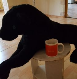 Kara panter yumuşak oyuncak