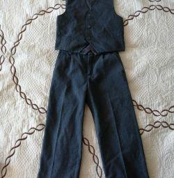 School pants + vest