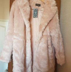 New fur coat from eco fur
