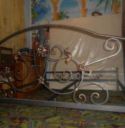 Forged double bed