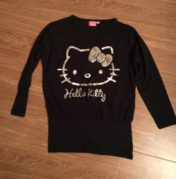 Salopeta cu maneca lunga Hello Kitty Original