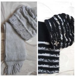 Hat + scarf new !!!