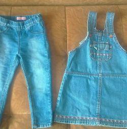 Jeans și blugi sarafan