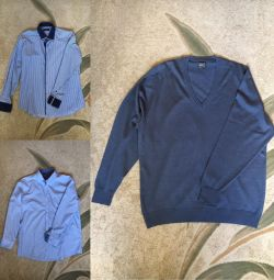 Джемпер і дві сорочки розмір 54-56