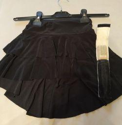 Training skirt + brush for dance shoes