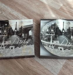New two plates Paris in a box