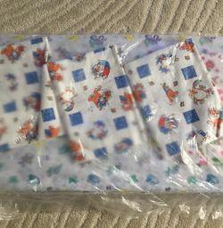 Set: Mattress, diaper and oilcloth