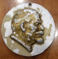 Bas-relief of Lenin, dural.