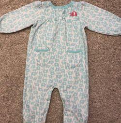Fleece overalls Carters p.12 months.