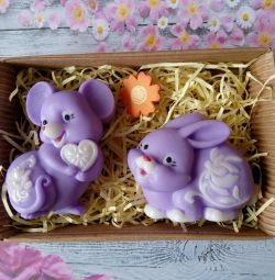 Soap set Mouse and Bunny