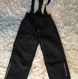 Warm pants with Lassie straps 98 cm