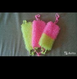 Handmade washcloths.