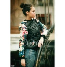 Jacket with floral print, new