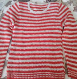 Pullover r. 40_42 tricotat manual