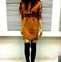 Knitted dress tunic. New.