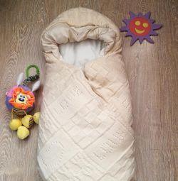 Plic - pătură pentru nou-născuți