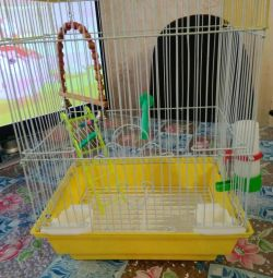 Cage for birds.