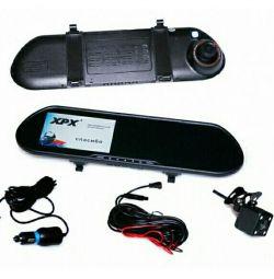 Oglindă cu înregistrator video și cameră de vedere din spate