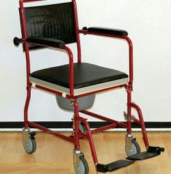 Wheelchair + toilet + walkers