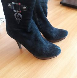 Natural Suede Ankle Boots