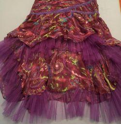 Fusta Italia silk + chiffon size M