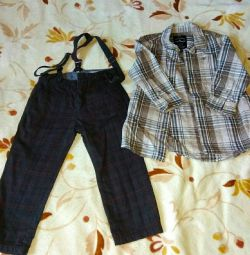 Pants Zara + Shirt for the boy TOM TAILOR