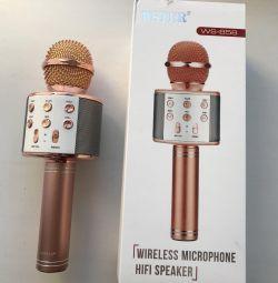 Kablosuz karaoke wster WS 858 mikrofon