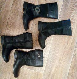 Δερμάτινες μπότες μεγέθους 30-31
