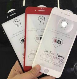 4D, 5D προστατευτικό γυαλί για iPhones 6/7/8