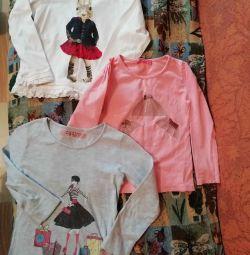 Μπλούζες για 104-110. 3 τεμ