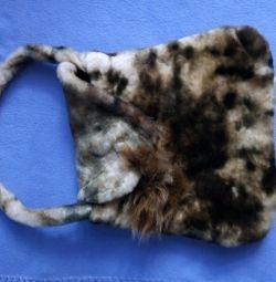 Детская меховая сумка