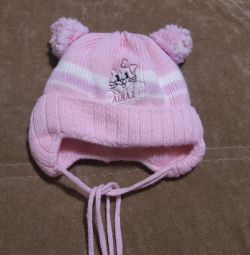 Warm winter cap for a girl