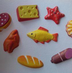Handmade magnets.