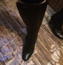 Μπότες της Νατ. Δέρμα και Γούνα !!! 37-38