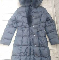 Winter down jacket for a girl