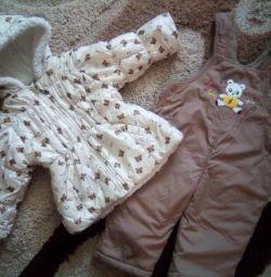 Κοστούμια για ένα κορίτσι, φθινόπωρο-άνοιξη, για 1,6-2 χρόνια