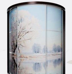 Radius cabinet with photo printing