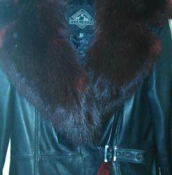 Jachetă din piele 48-50r