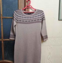Rochie tricotată cu ornament